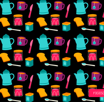 Breakfast Pattern. A Illustration project by Rocio Sanchez         - 09.12.2015