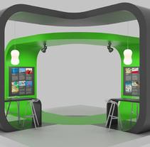 Diseño de Stands. Um projeto de Publicidade, 3D, Br, ing e Identidade e Arquitetura de interiores de Ivan S         - 02.12.2015