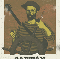 Let´s Folk! - Capitán Cobarde. A Illustration, and Graphic Design project by Jokin Fernández - 03-01-2016