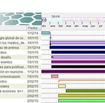 Calendario para un plan de comunicación. A Information Design project by MJ_Informa MJ_Informa         - 10.01.2016