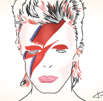 David Bowie. A Design&Illustration project by Jaume Turon Auladell         - 10.01.2016