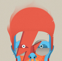 Bowie tribute. A Design, Character Design&Illustration project by Casmic Lab  - 01.01.2016