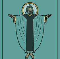 The God is.... Um projeto de Design, Direção de arte, Design de personagens e Design gráfico de Adrián Basto - 11-01-2016