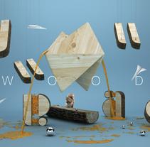 Play With My Logo IV: Wood. Un proyecto de Ilustración, 3D, Dirección de arte y Tipografía de Guille Llano - 15-01-2016