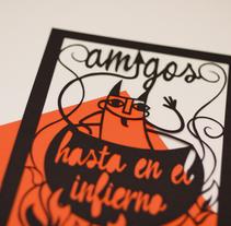 Amigos hasta en el infierno. Un proyecto de Ilustración, Artesanía y Collage de Ainara Tavárez - 16-01-2016