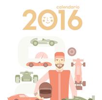 Calendario  2016 . Un proyecto de Diseño, Ilustración y Diseño gráfico de rosevelt barahona - 24-02-2016