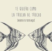 Postales de San Valentín con Miguis Paper. Un proyecto de Diseño gráfico de César Martín Ibáñez  - Viernes, 29 de enero de 2016 00:00:00 +0100