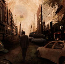 Matte Painting post-apocalíptico. A Graphic Design, Post-Production, Collage, and Film project by David Ramos Sánchez         - 31.01.2016