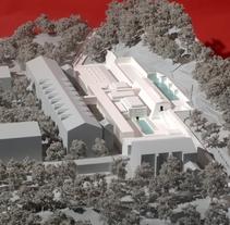 Maqueta Centro Termolúdico de Amélie-Les Bains. Patxi Mangado. A Architecture project by hchmodel         - 11.02.2016