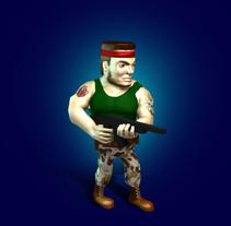 Commando - Lowpoly game character. Un proyecto de 3D, Animación, Diseño de personajes y Diseño de juegos de Gabriel Delfino - 31-05-2015