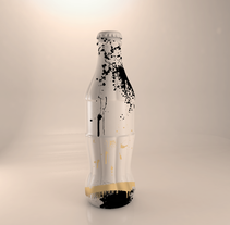 cinema 4D_ Coca-Cola botle. A 3D, and Graphic Design project by Oihana Barbero Moral - 22-02-2016