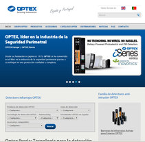 Sitio web de OPTEX IBERIA. A Marketing, and Web Development project by Rafael J. Mora Aguilar         - 22.03.2015