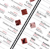 Historia de la Tipografía. Un proyecto de Diseño, Diseño editorial, Diseño gráfico y Tipografía de Sergio  Ortiz Ruiz - Jueves, 29 de mayo de 2014 00:00:00 +0200