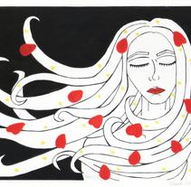 Ilustrar un poema Técnica Temperas.. Un proyecto de Ilustración y Diseño gráfico de Sara Cuenca Segovia - 02-03-2016