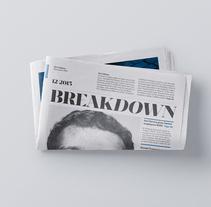 Breakdown Newspaper. Un proyecto de Diseño editorial y Tipografía de Carlos de Toro - 06-03-2016