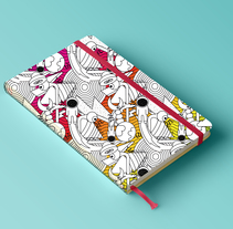 Pattern para impresión en cuadernos . Un proyecto de Diseño e Ilustración de Luisa Sirvent - Martes, 08 de marzo de 2016 00:00:00 +0100