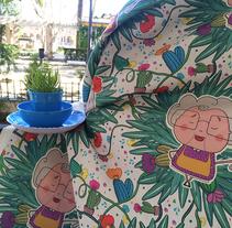 Mantel personalizado : abuelita!!!! . Um projeto de Design, Ilustração, Fotografia, Artesanato e Design gráfico de Raquel Martínez         - 08.03.2016