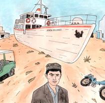 Mar de Aral. A Illustration, and Comic project by Juan Moreno - 08-03-2016