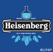 Heisenberg Crystal Meth. Un proyecto de Ilustración y Diseño gráfico de Oliver Ibáñez Romero         - 13.03.2016