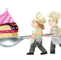 Minichefs con pastel. Un proyecto de Ilustración de mustikka         - 15.02.2016