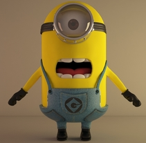 Minion 3DMax + VRay. A 3D, and Animation project by Jordi  Ros Torrents         - 25.03.2016