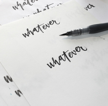 whatever brush lettering. A Calligraph project by Mang Sánchez Lázaro - Feb 20 2016 12:00 AM