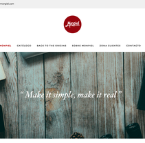 Monpiel - Web Design. Un proyecto de Diseño Web de CRVTER STUDIOS         - 30.03.2016