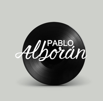 Mi Proyecto del curso: Caligrafía y Rock'n'Roll. Logotipo para músico (odioso) Pablo Alborán.. A Design, Music, Audio, Graphic Design, Writing, and Calligraph project by Scherezade          - 04.04.2016