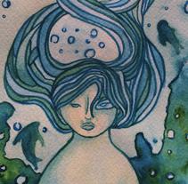Sedna, diosa del mar. Um projeto de Ilustração de Gloria Espino         - 06.04.2016
