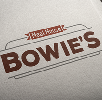 BOWIE'S Meal House. A Br, ing, Identit, and Graphic Design project by Chema Castaño - 08-04-2016
