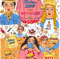 chicken shop/ dirty burger . A Design, Art Direction, Curation, Fine Art, and Cooking project by Susana López         - 10.04.2016