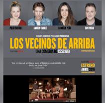SEO para la obra de teatro Los Vecinos de arriba. A Marketing project by Posicionamiento web Barcelona         - 10.04.2016