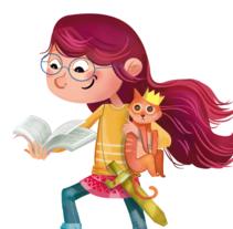 Poster Bilblioteca Foral de Bizkaia. Un proyecto de Ilustración de Nuria  - Lunes, 18 de abril de 2016 00:00:00 +0200
