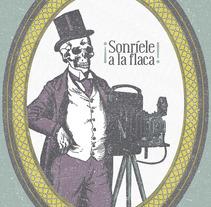 """Mi Proyecto del curso: Cartelismo ilustrado """"A la Muerte con una Sonrisa"""". A Illustration project by Cinthya Márquez - 18-04-2016"""