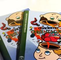 Diseño de portada para cuaderno de orientación de la Junta de Andalucía. A Graphic Design project by JuanJo R Blik         - 01.05.2016