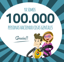 Gracias! Ya somos 100.000!. A Design, Advertising, IT, Education, Events, Information Architecture, Marketing, Multimedia, Web Design&Infographics project by Genially Web         - 30.05.2016