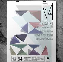 Carteles festival de cine de San Sebastian.. A Graphic Design project by miguel minguez gil         - 02.06.2016