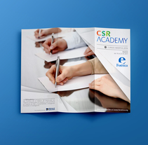 Tríptico cursos CSR Academy. A Editorial Design, and Graphic Design project by María Rodríguez Vázquez         - 04.06.2016