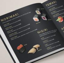 Carta de restaurante y recetario Japonés . A Editorial Design, Cooking, and Graphic Design project by Victor Belda Ruiz - 07-06-2016