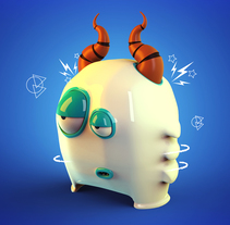 Mi Proyecto del curso: Diseño de personajes en Cinema 4D: Little Monster. A Motion Graphics, 3D, Animation, Character Design, To, and Design project by Jonathan Martínez         - 08.06.2016