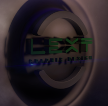 Isologo 3D Lext Graphic Design. A 3D, Animation, Br, ing, Identit, and Graphic Design project by Alex Fernando Tingo Melena         - 19.06.2016