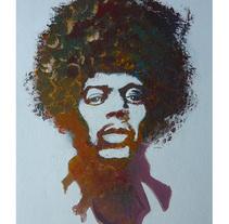 Jimy Hendrix. A Illustration, and Fine Art project by alberto martinez romero         - 19.06.2016