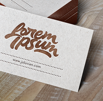 Lorem Ipsum logotipo . A Br, ing, Identit, Calligraph, Film Title Design, T, and pograph project by Joluvian  - 06.28.2016