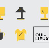 Oui-Lieux. Un proyecto de Ilustración, Instalaciones, Dirección de arte, Br, ing e Identidad, Diseño gráfico, Tipografía, Diseño Web y Desarrollo Web de Hendrik Hohenstein - 28-02-2014