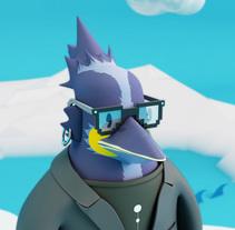 PNG The Creative Penguin. Un proyecto de Diseño, Motion Graphics, 3D, Dirección de arte, Diseño gráfico, Diseño de producto, Escultura y Diseño de juguetes de Carlos Go-niji Loera Orozco         - 08.07.2016
