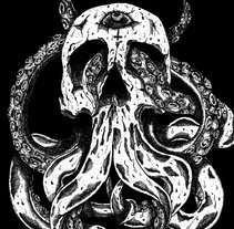 Skulloctopus. A Illustration project by HǢl Phlegathon - Jul 14 2016 12:00 AM
