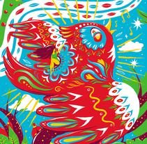 El Pájaro - Lotería Capiusera Collective. Um projeto de Design, Ilustração e Design de personagens de Luis Pinto         - 04.05.2016