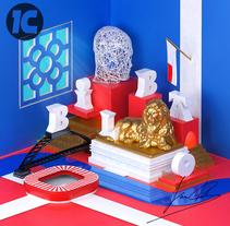 Proyecto: Dirección de Arte con Cinema 4D - Imagen Bilbao. Um projeto de Design, Ilustração, 3D, Br, ing e Identidade, Design gráfico, Design de cenários e Tipografia de Ivan Cubillo         - 28.07.2016