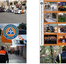 Roll-Up Associació de Voluntaris de Protecció Civil Sant Cugat. A Graphic Design project by Marc Vidiella - 17-08-2016