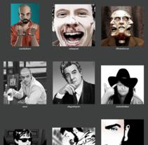 Serie de dibujos de avatares de Twitter. A Illustration, and Fine Art project by Roger Bernad         - 17.08.2012
